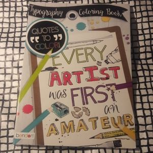 Adult Coloring Book: Quotes to color